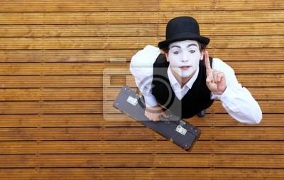 Portrait d'un acteur jouant une pantomime