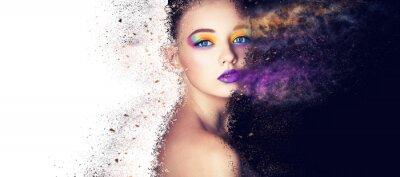 Papiers peints portrait mode modèle femme créative maquillage, studio photo