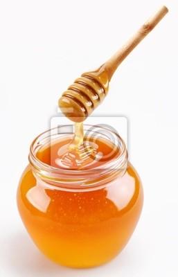 Pot de miel complète et le bâton de miel