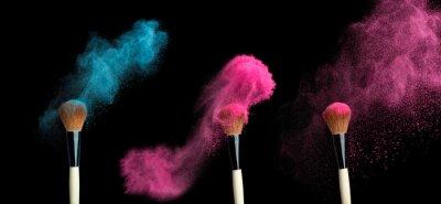 Papiers peints Powderbrush, noir, fond, bleu, poudre, éclaboussure