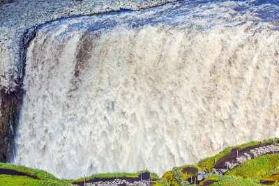 Papiers peints Puissant chute d'eau Dettifoss