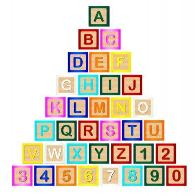 Papiers peints Pyramide de lettres de bloc