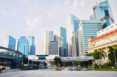 Papiers peints Quartier des affaires de Singapour