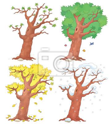 Coloriage Saison Printemps.Papiers Peints Quatre Saisons Printemps Ete Automne Et Hiver Coloriage