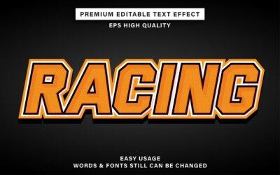 Papiers peints Racing style editable text effect
