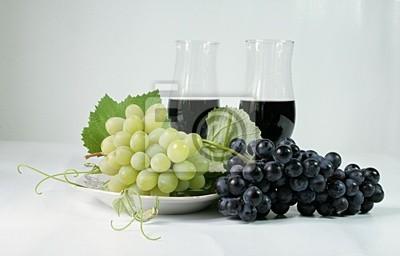 Raisins verres à vin