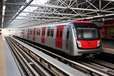 Papiers peints Rame de métro à la station de métro
