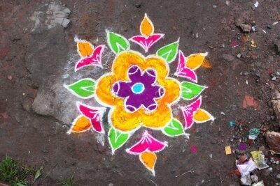 Papiers peints Rangoli / Munnar (Kerala / Inde)