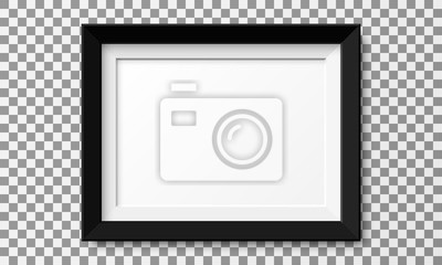 Papiers peints Realistic horizontal picture frame isolated on transparent background.