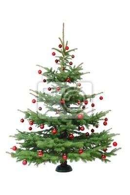 Red arbre de Noël décoré