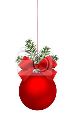 Red boule de Noël avec l'arc
