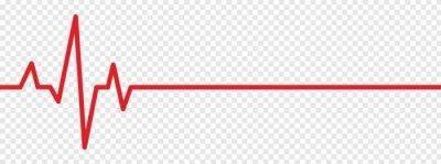 Papiers peints Red heartbeat line icon. vector illustration