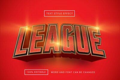 Papiers peints Red League Text Effect Editable text effect premium free download
