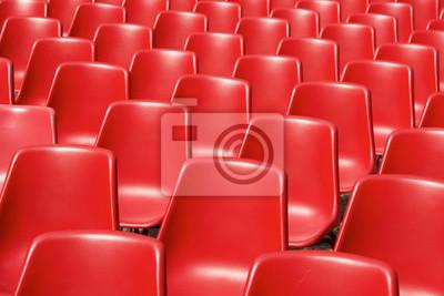 Papiers peints Red plastic chairs