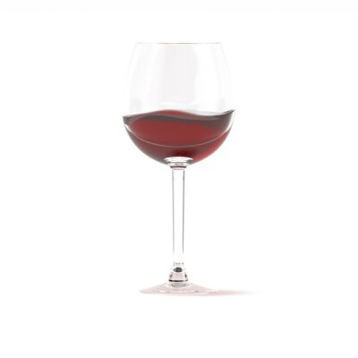 Papiers peints Red wine in glass 3d rendering
