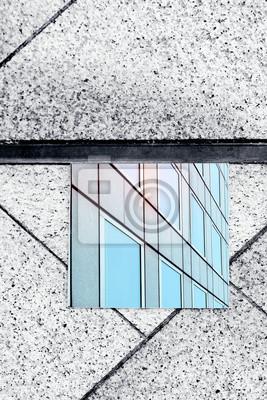 Papiers peints reflet immeuble de verre