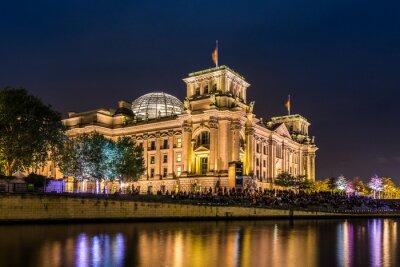 Papiers peints Reichstag à Berlin am Abend