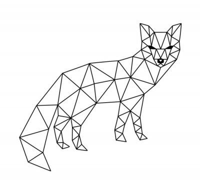 Papiers peints Renard polygonal