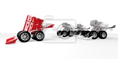 Rendu 3D d'une meilleure icône de prix isolé dans une course de sport automobile