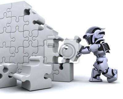résoudre puzzle de robot