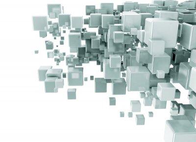 Papiers peints Résumé, 3D, cubes, fond