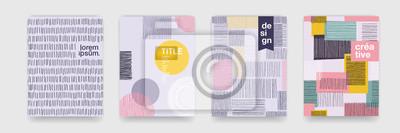 Papiers peints Résumé amusant couleur motif cartoon texture pour doodle fond géométrique. Forme de tendance vecteur pour la conception de modèle de couverture brochure