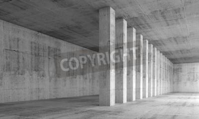 Papiers peints Résumé, architecture, fond, vide, intérieur, à, béton, murs, colonnes, rang ...