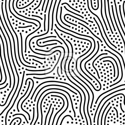 Résumé, arrière plan, organique, irrégulier, lignes, labyrinthe, modèle