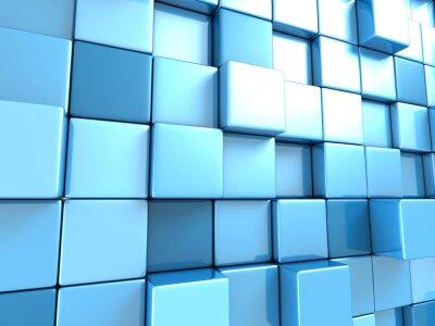 Papiers peints Résumé, bleu, cubes, fond, papier peint