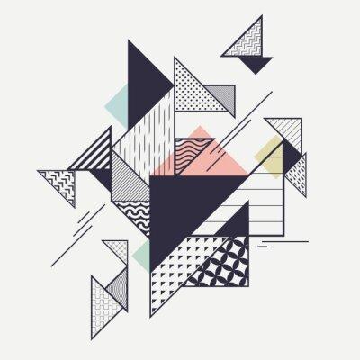 Papiers peints Résumé composition géométrique moderne