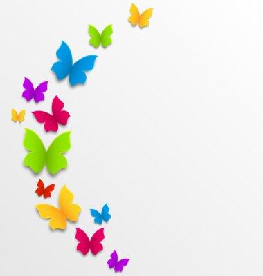 Papiers peints Résumé de fond de printemps avec des papillons de l'arc