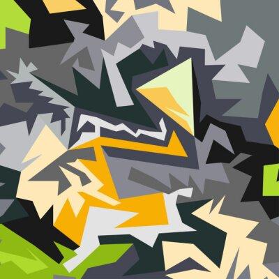 Papiers peints Résumé de l'illustration vectorielle des polygones