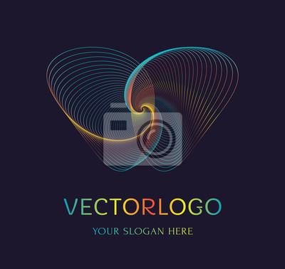 Papiers peints Résumé du logo papillon. Symbole vectoriel.