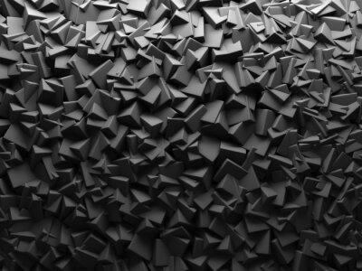 Papiers peints Résumé foncé chaotiques Cube Formes fond.