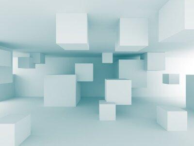 Papiers peints Résumé fond chaotique Cubes Construction Conception