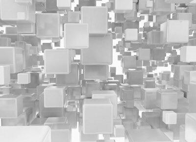 Papiers peints Résumé, fond, métallique, cubes