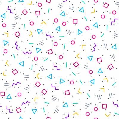 Papiers peints Résumé, géométrique, fond, memphis, style, clair, néon, couleurs ...