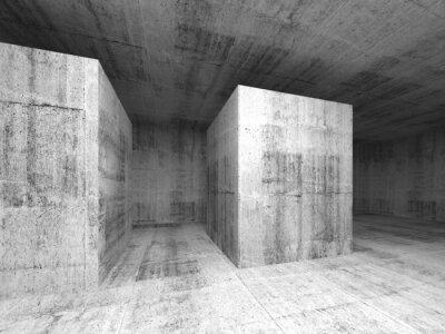 Papiers peints Résumé gris vide chambre béton foncé, intérieur 3d