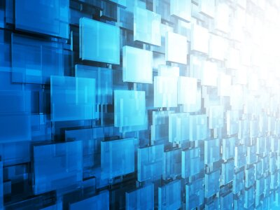Papiers peints Résumé HighTechnology Glossy Squares Background