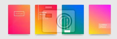 Papiers peints Résumé motif texture livre brochure affiche couverture gradient modèle vecteur ensemble