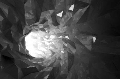 Papiers peints Résumé, noir, cristal, numérique, tunnel, 3D