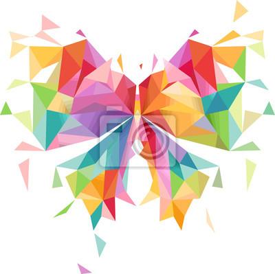 Papiers peints Résumé, papillon, géométrique, conception