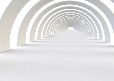 Papiers peints Résumé tunnel futuriste dans un style contemporain