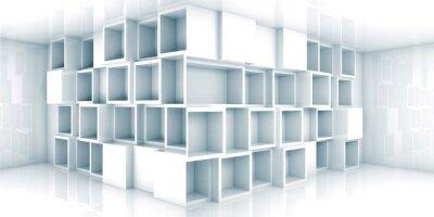 Papiers peints Résumé vide 3d espace intérieur avec armoire dans le coin