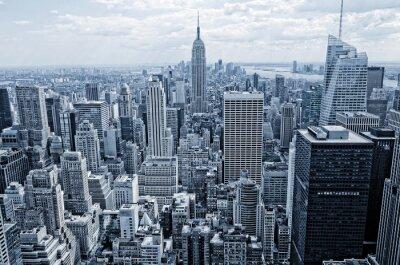 Papiers peints Résumé vue de la hauteur à Manhattan