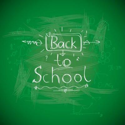 Papiers peints Retour à l'école, chalkwriting sur le tableau noir, image vectorielle Eps10.