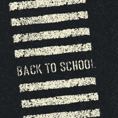 Papiers peints Retour à l'école. concept de sécurité routière. Vector.