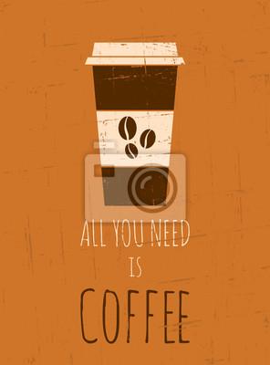 Rétro affiche de café