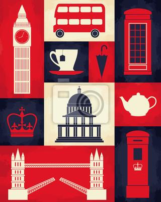 Rétro affiche de Londres