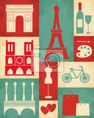 Rétro affiche de Paris